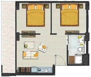 Pratumnak Residences Boutiques - Deux chambres