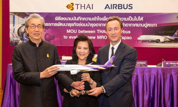 airbus-thai-airways-utapao